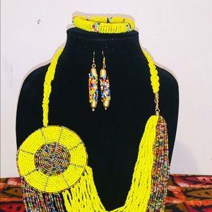 Beaded handmade necklace set